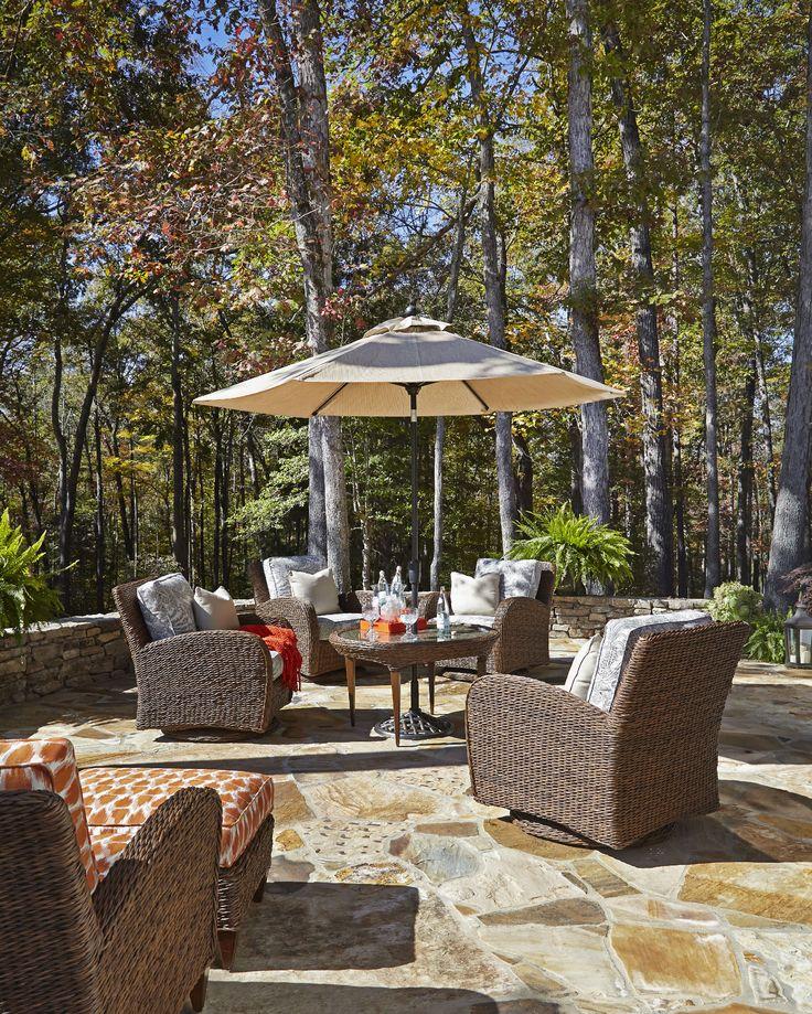 Klaussner Outdoor OutdoorPatio Palmetto Swivel Glider Chair