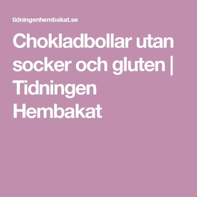 Chokladbollar utan socker och gluten   Tidningen Hembakat