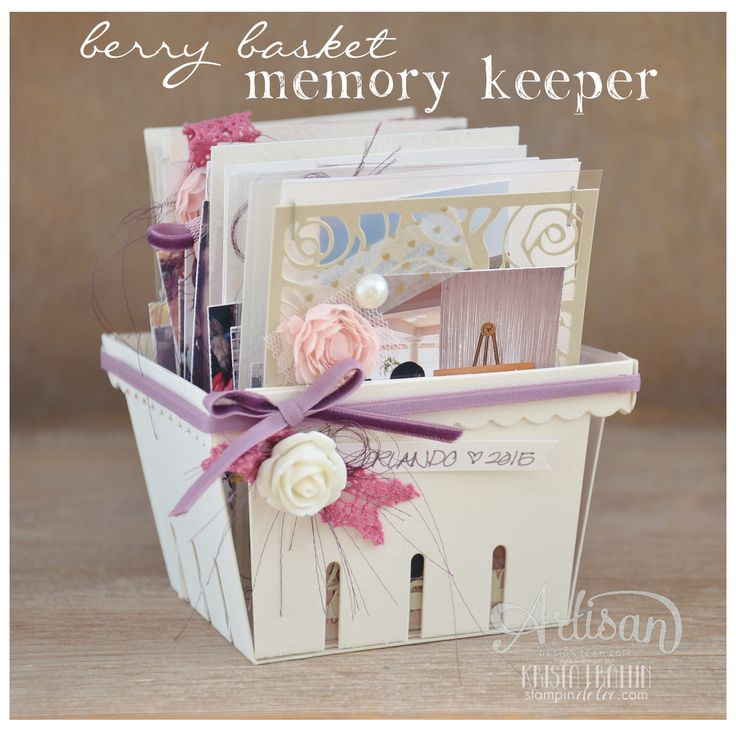 Stampin' Dolce: Berry Basket Memory Keeper - Artisan Design Team Blog Hop; #occasions2015