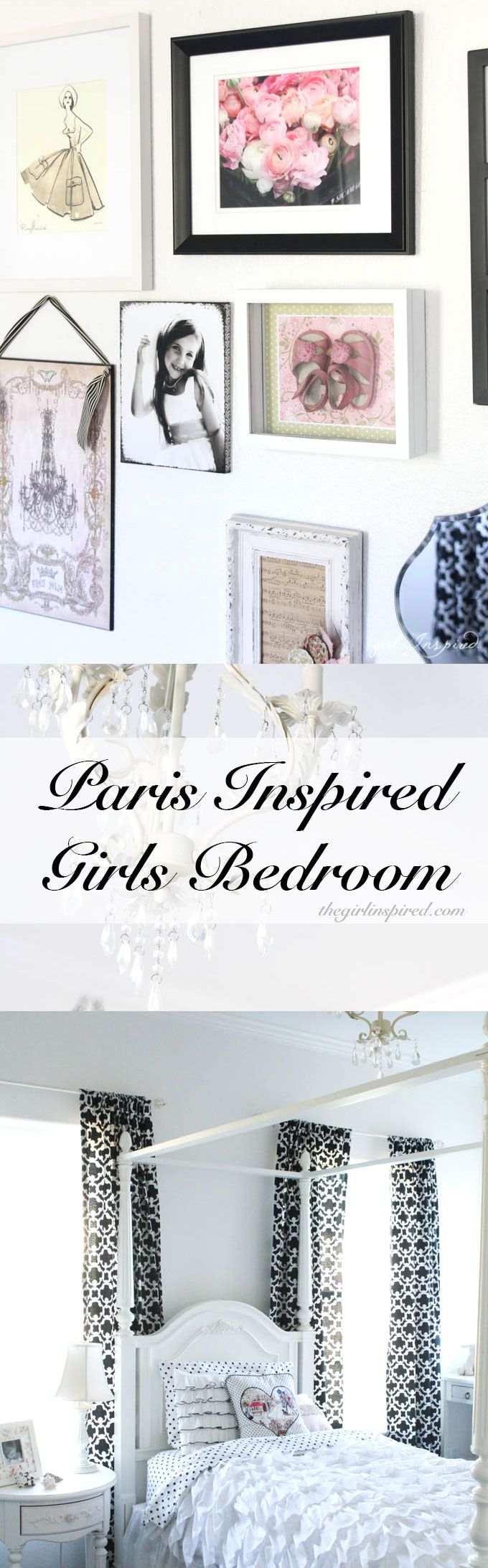 Paris Inspired Bedroom   Pretty Girlu0027s Bedroom!