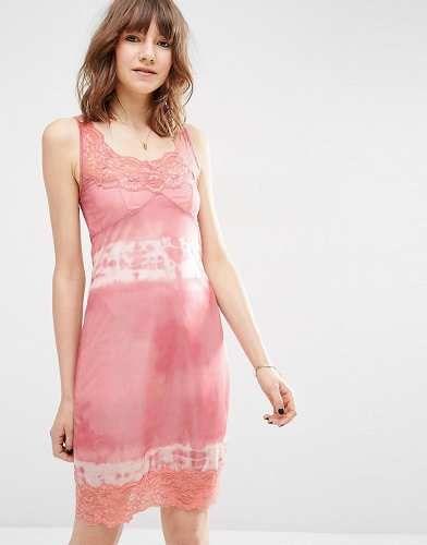 Prezzi e Sconti: #Asos sottoveste tie-dye in pizzo rosa taglia It 46it 36  ad Euro 7.99 in #Asos #Female saldi vestiti vestiti