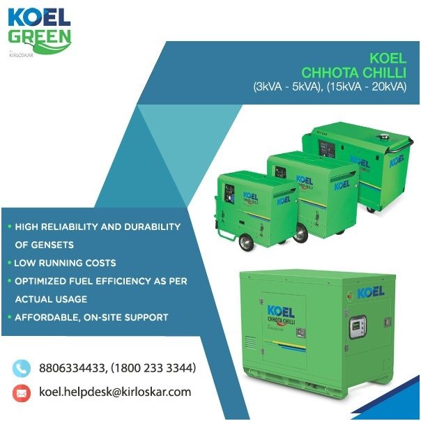 The most trusted petrol generator manufacturers in India has come up with KOEL Chotta Chilli portable generator as the latest addition to its generator portfolio. If you are planning to buy petrol generator with an uninterrupted power supply that can be c http://egardeningtools.com/product-category/generators/