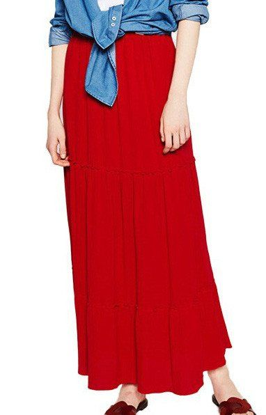 Lila,  Long Pleated Skirt  Four Colours