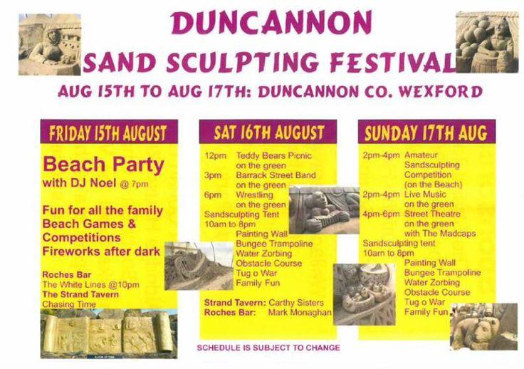 duncannon sand sculpting festival programme 2014