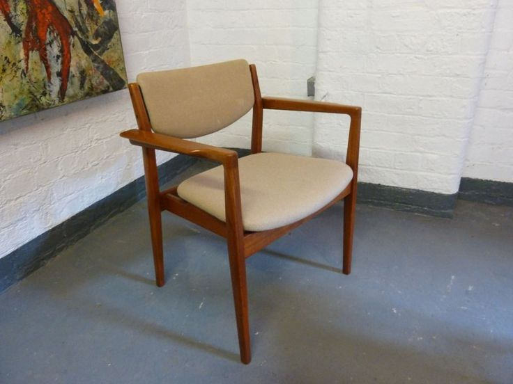 France Son For Finn Juhl Teak Desk Arm Chairs