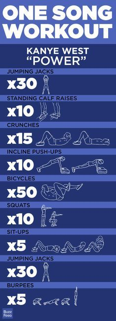5 One-Song Workouts - I'll have to see if I can challenge myself to complete all these exercises in 1 song!!! Let's do it !!!