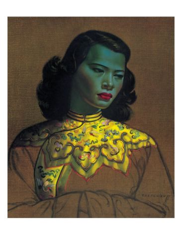 Chinese Girl by Vladimir Tretchikoff. Giclee print from Art.com.