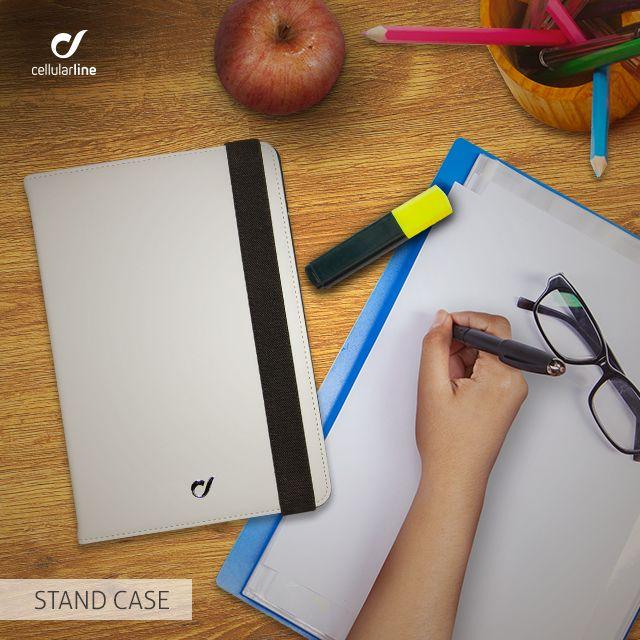 Nécessaire sul #lavoro: penne, agenda, pc e STAND CASE per il tuo #tablet! #cellularline #atwork #inufficio #iPad #lifestyle