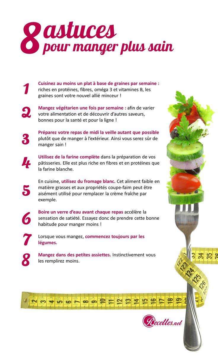 8 astuces pour repenser son alimentation et perdre du poids sainement ! #astucesminceur #alimentation #nutrition #tips #foodie