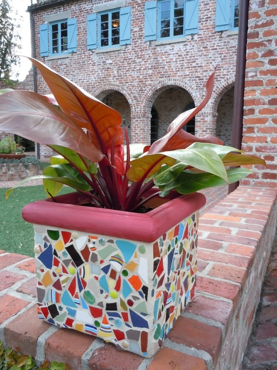 Mosaic Planter    This One Is EXCLAIM  Colorful by totallylegalpot, $199.95