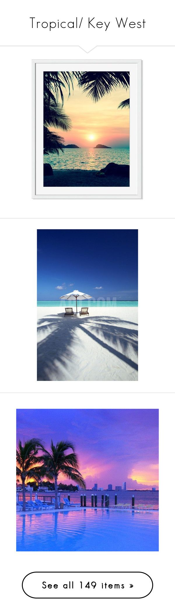 """""""Tropical/ Key West"""" by kristy-corbin ❤ liked on Polyvore featuring home, home decor, wall art, backgrounds, photographic wall art, photography wall art, tropical home decor, beach home accessories, beach scene wall art and beach wall art"""