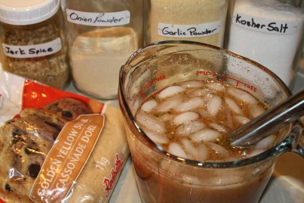 Jamaican Jerk Brine for Chicken, Pork .... from Food.com: Kosher salt, which is preferred due to it's lack of impurities if using table salt use 1/2 the amount.