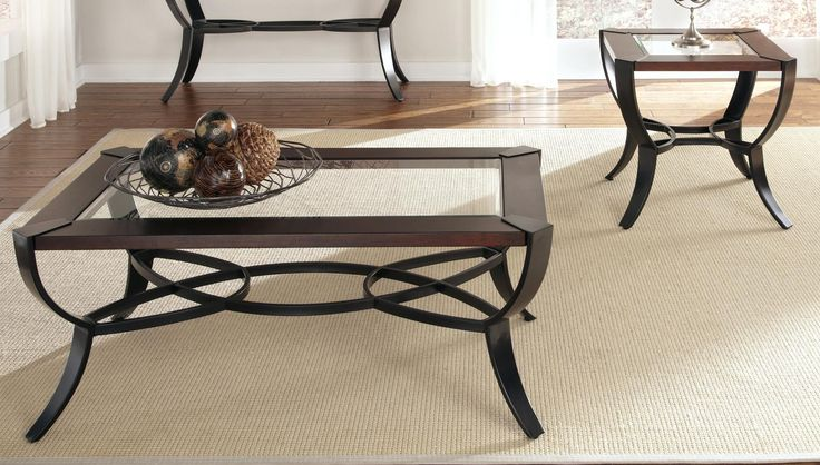 Glass Top End Table Set