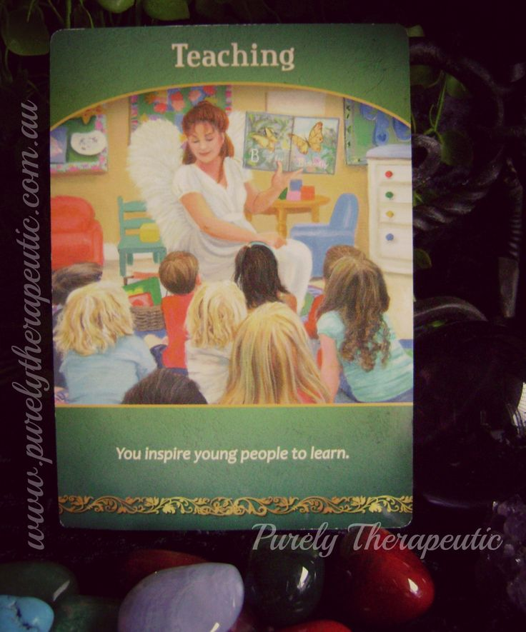 TEACHING - You inspire young people to learn 'Life Purpose Oracle' by Doreen Virtue Purely Therapeutic ♥ www.purelytherapeutic.com.au https://instagram.com/purelytherapeutic