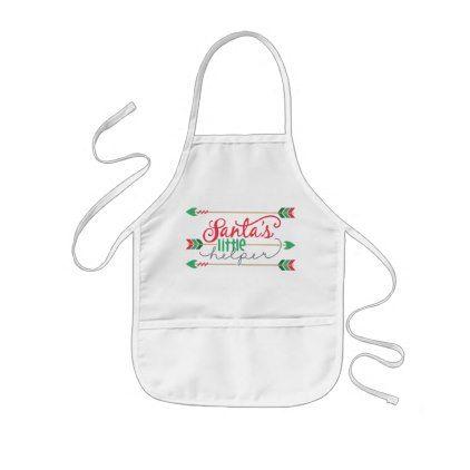 #Christmas Santas little helper apron kids unisex - #Xmas #ChristmasEve Christmas Eve #Christmas #merry #xmas #family #kids #gifts #holidays #Santa
