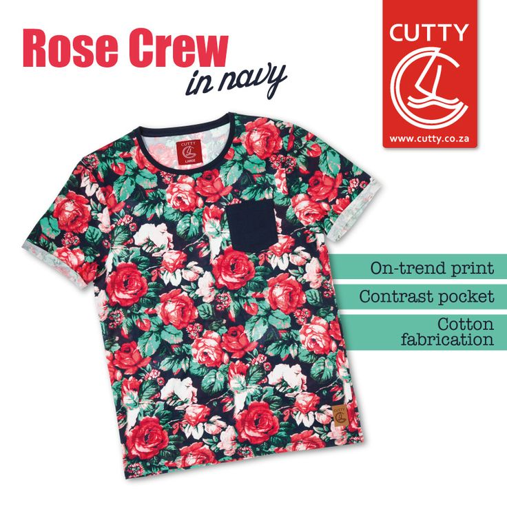 The sun is shining, the birds are chirping and the tees are floral. Celebrate the soon-to-be-start of summer and get a little spring in your step with Cutty's Rose Crew. Made from a cool and comfortable cotton, this trendsetting tee features a hot floral print with contrasting navy pocket and branded leather tab on the front.