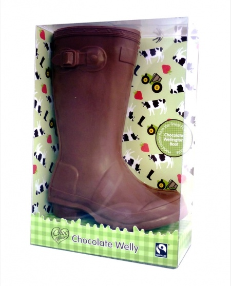 Only in England would they produce a Giant Milk Chocolate Welly! Nice one Choc affair.