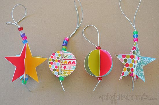 2013 Christmas printables - today I set all my good intentions aside and made these simple paper decorations. Download the free printable and make your own.