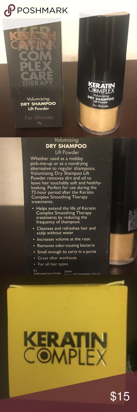 Dry Shampoo Keratin Complex Dry shampoo for Blondes. I'm not blonde anymore so I'm using a different dry shampoo. This one is brand new and never been used. Other