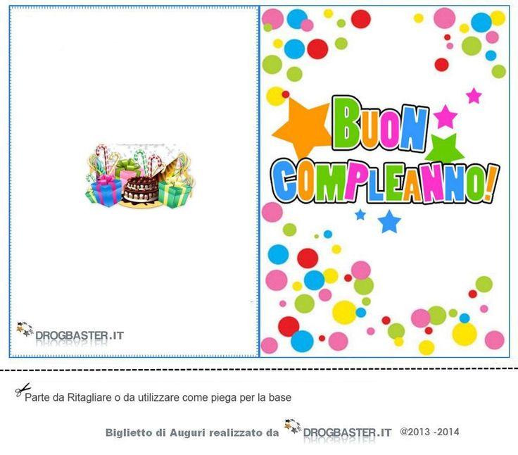 Raccolta di Bigliettini di auguri per il compleanno da stampare gratis