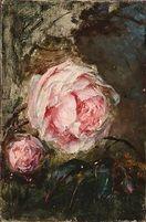 Rózsaszín rózsák Bertha Wegmann