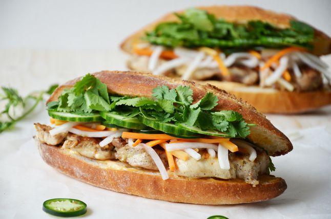 Kublanka vaří doma - Bánh mi s grilovaným kuřecím masem