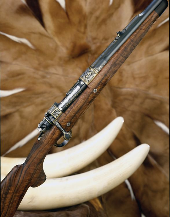 The very first rifle in the Safari Club International Guns of the Big Five series was the Elephant Rifle by the David Miller Co. Photo by Ron Dehn.