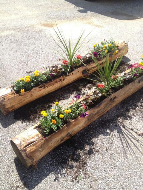 20 Amazing Log Decor Ideas For Your Home Diy Planters 640 x 480