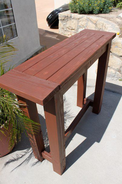 An outdoor pub table can be a great start in arranging a patio bar 4  CookJaclyn