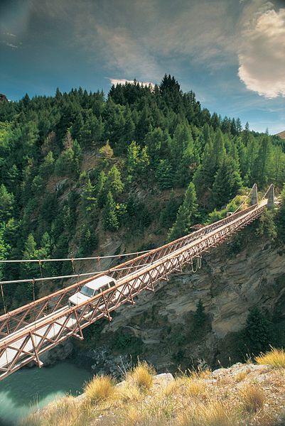 Skippers Bridge ,Skippers Canyon, Otago, South Island, New Zealand