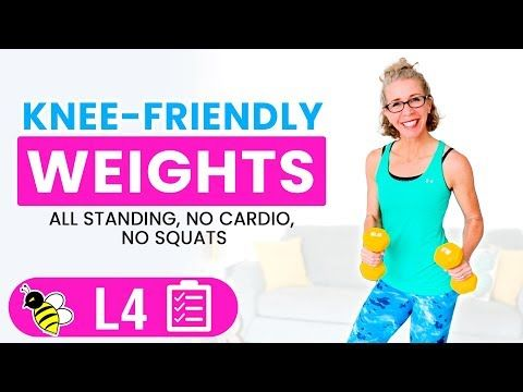 20 minute knee friendly weights workout for women over 50