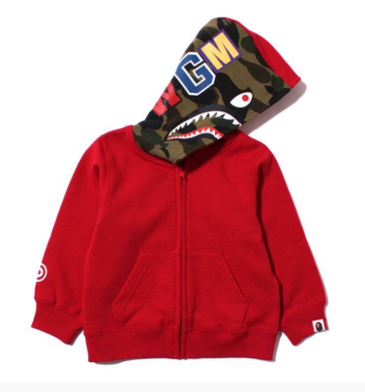 Bape kids - Shark zip hoodie