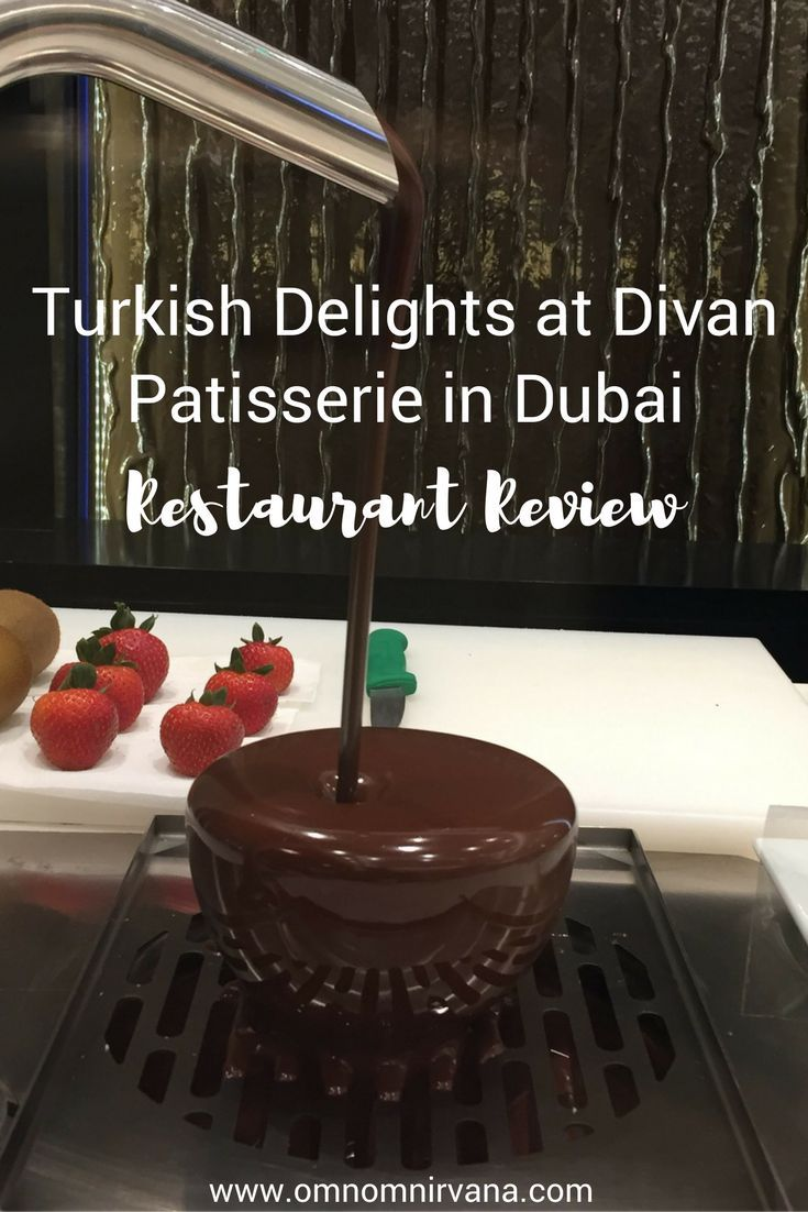Divan Patisserie features delicious Turkish desserts. If you're looking for a tasty treat in the Dubai Mall, you should stop by. They have huge macaroons, Kunafehs, and delicious tea from Turkey. Make sure you save this to your food board so you remember what the store is called!