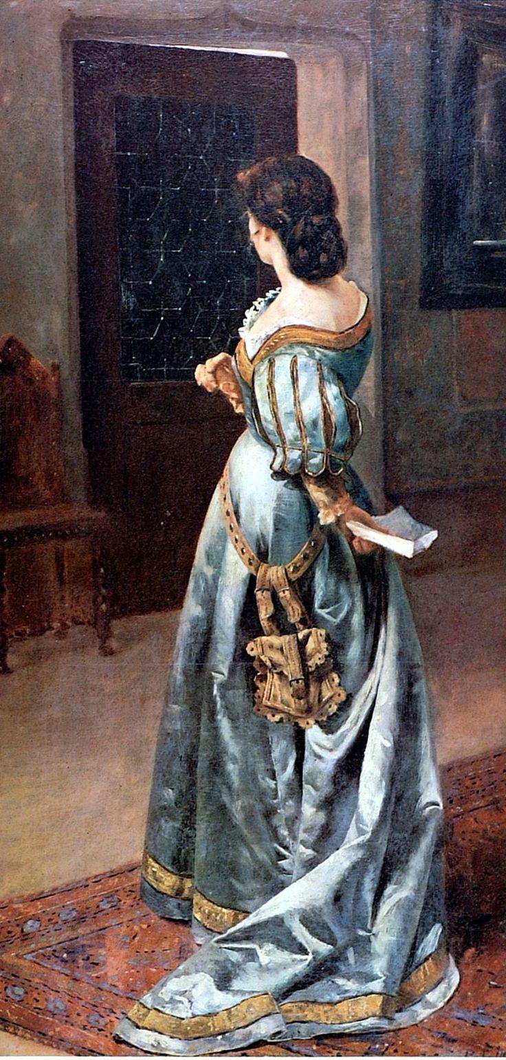 Carta de amor. Pedro Lira (Chilean, 1845-1912). Museo Nacional de Bellas Artes, Santiago de Chile.
