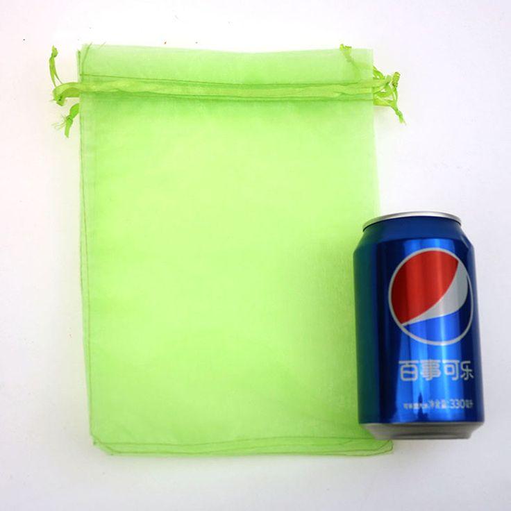 Оптовая продажа 100 шт./лот 17 x 23 см светло-зеленый свадебный рисуем органзы вуаль подарочная упаковка пакеты и сумки может индивидуальные логотип печать