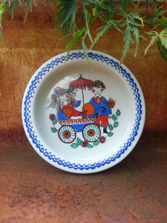 Vintage Figgjo Flint Turi design Norway child's by fcollectables, €30.00