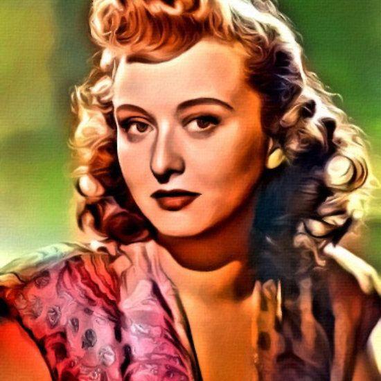 Celeste Holm, Vintage Actress. Digital Art by MB