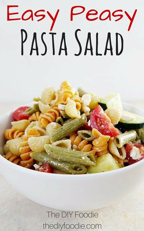 My favorite summer side dish...this Easy Pasta Salad! easy to add any ingredients you want to it too.