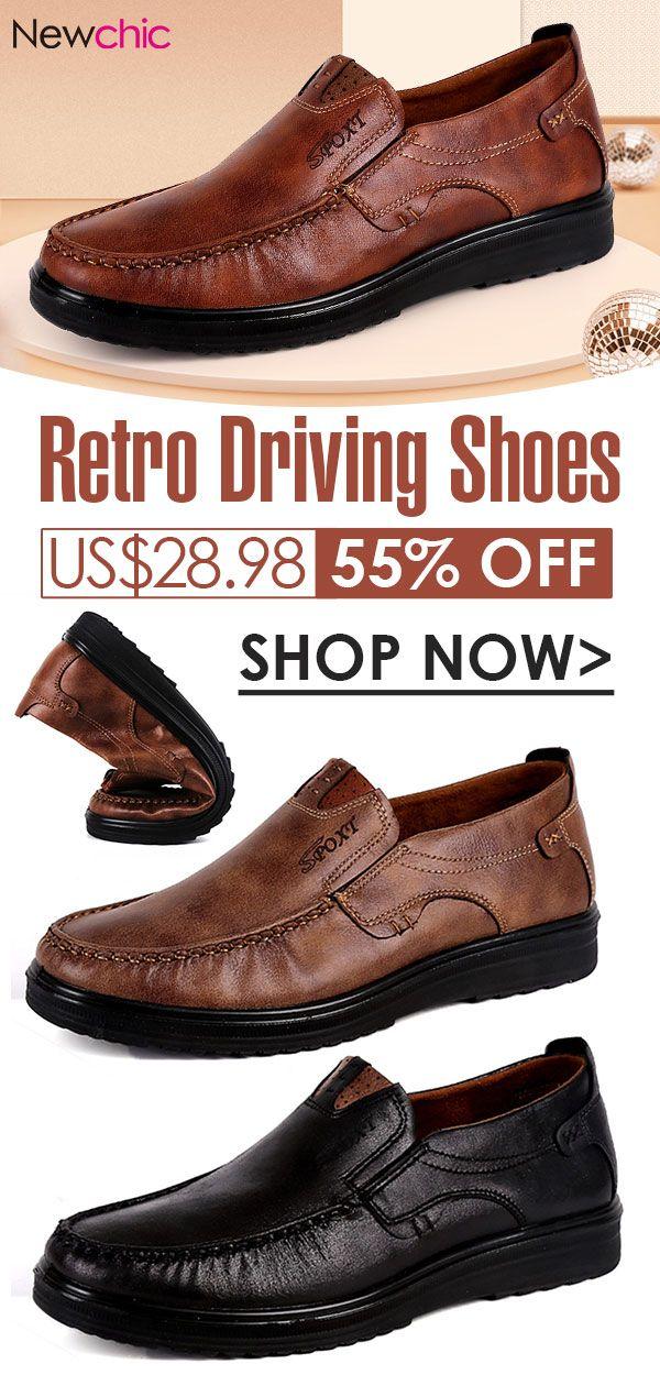 Menico Men Retro Color Leather Large