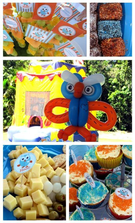 Giggle And Hoot Owl Snack Food Parties Hors D'oeuvre Blue Orange from www.milkeyes.com