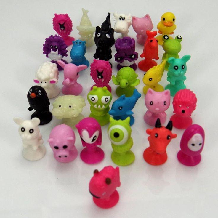 50 PCS/bag baik Cupule anak Kartun Hewan Aksi Angka mainan anak-anak Mini Hisap Cangkir Pengisap Kolektor model Kapsul