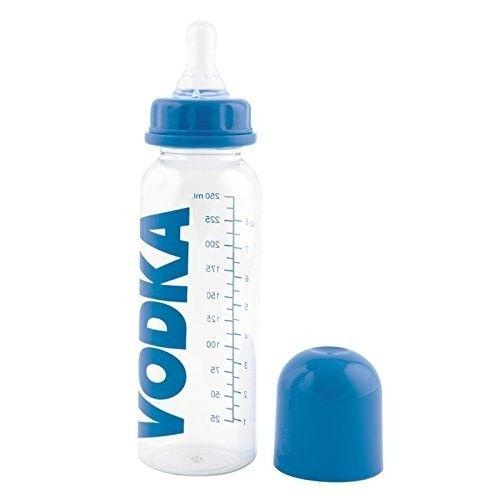 Blue Adults Novelty Baby Bottle Vodka Joke Gift