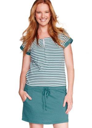 Color Bar Splice Long Version Maternity and Breastfeeding Dress Nomor produk:1317
