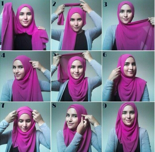 simple hijab style...quick and easy