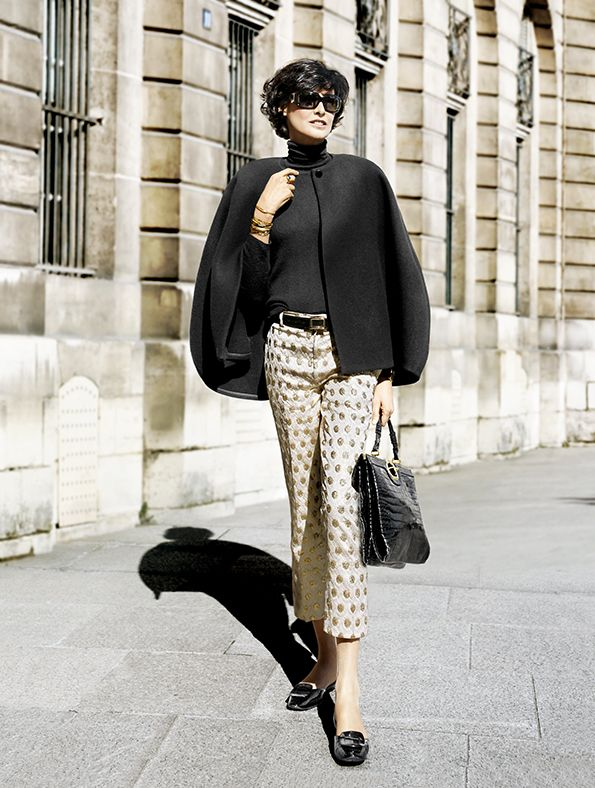 Ines de La Fressange Street Style Paris Fashion week autumn winter 2013-2014