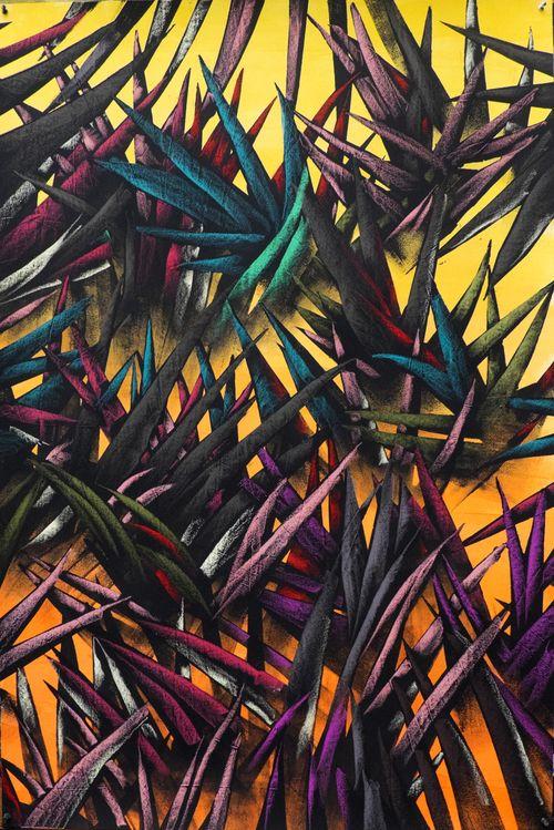 Les jungles au pastel gras de Julien Colombier — Green Monsters par fanie