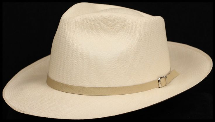 Cream half inch Leather hat band
