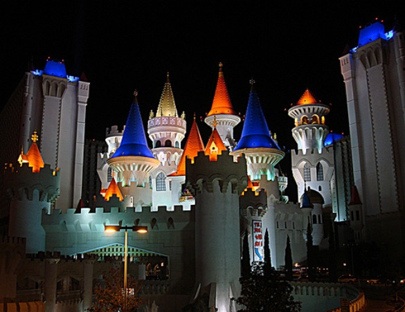 We got married in a castle. ❤ Excalibur Hotel, Las Vegas NV