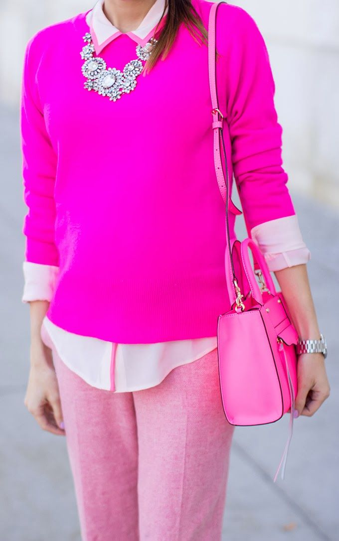 1.7 Monochromatic Fashion // tints and shades of pink