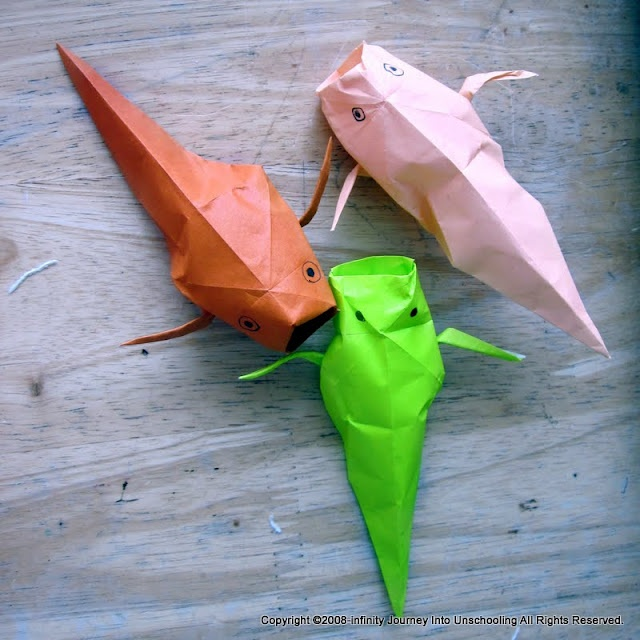 17 best images about origami on pinterest snails for Origami koi fish tutorial